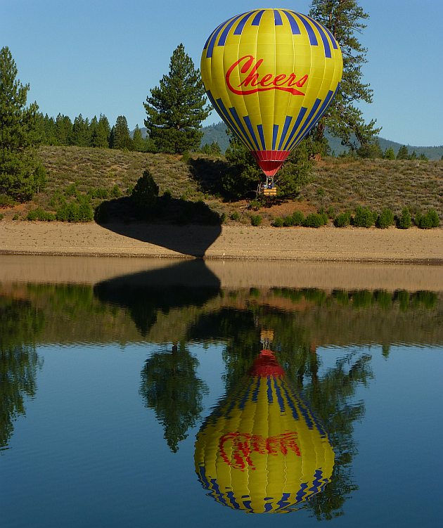 Cheers Balloon at Prosser Reservoir near Truckee, California