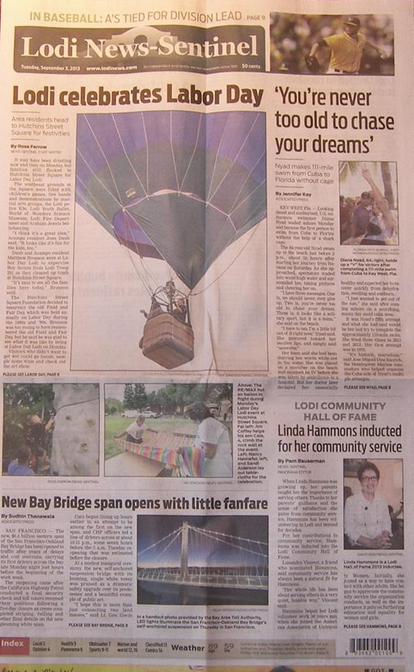 Cheers Aerial Media and the RE/MAX Balloon make front page above the fold